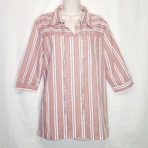 Bombshells | Oversize Striped Tunic w/Side Pockets